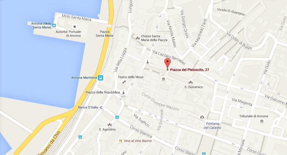 operativa è in Piazza del Plebiscito 27 ad Ancona